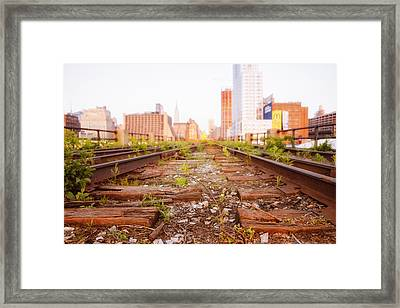 New York City - Abandoned Railroad Tracks Framed Print by Vivienne Gucwa