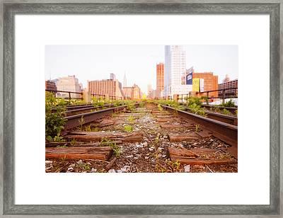 New York City - Abandoned Railroad Tracks Framed Print by Vivienne Gucwa