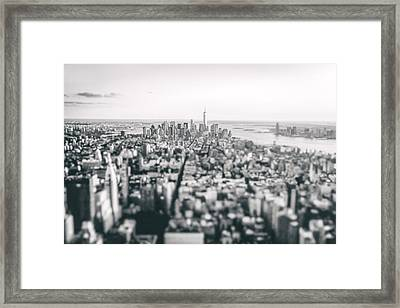 New York City - Above The Rooftops Framed Print by Vivienne Gucwa