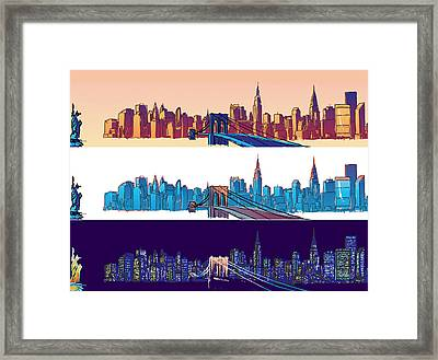 New York City - All Day Framed Print by Sam Shacked