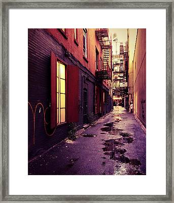 New York City Alley Framed Print by Vivienne Gucwa