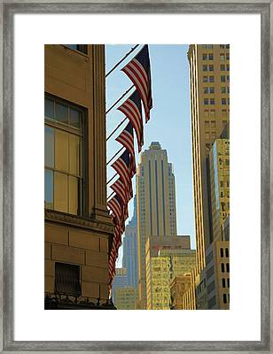New York City And American Pride Framed Print