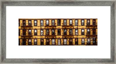 New York City Apartment Building Study Framed Print by Amy Cicconi