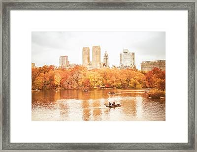 New York City - Autumn - Central Park Framed Print