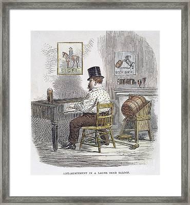 New York City Beer Hall Framed Print by Granger