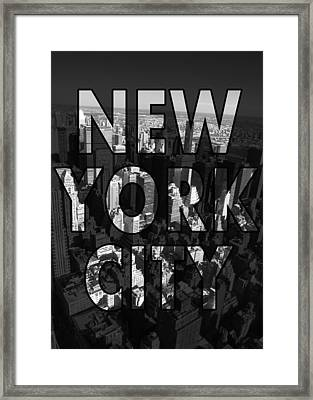 New York City - Black Framed Print by Nicklas Gustafsson