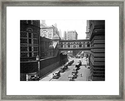 New York City Bridge Of Sighs Framed Print by Underwood Archives