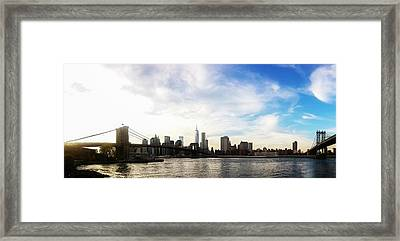 New York City Bridges Framed Print by Nicklas Gustafsson