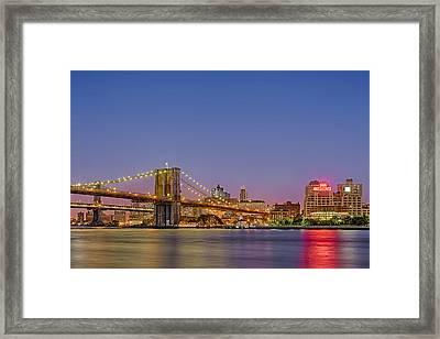 New York City Bridges Framed Print by Susan Candelario