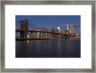 New York City Brooklyn Bridge Framed Print by Juergen Roth