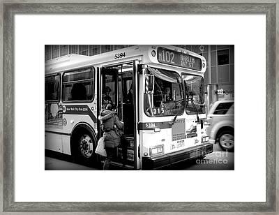 New York City Bus Framed Print