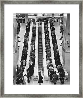 New York City Bus Terminal, 1953 Framed Print