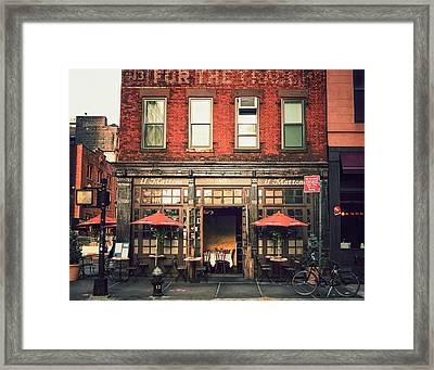 New York City - Cafe In Tribeca Framed Print by Vivienne Gucwa