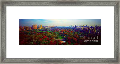 New York City Central Park South Framed Print by Tom Jelen
