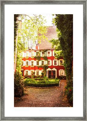 New York City - Charming Townhouses Framed Print by Vivienne Gucwa