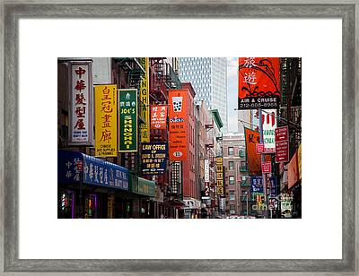 New York City Chinatown Framed Print