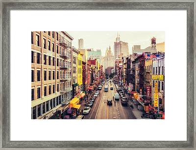 New York City - Chinatown Street Framed Print by Vivienne Gucwa