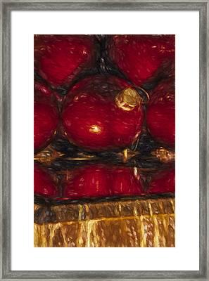 New York City Christmas Ornaments Framed Print