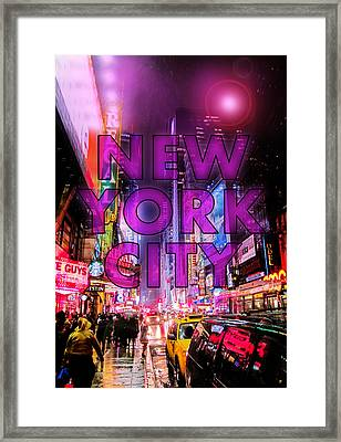 New York City - Color Framed Print by Nicklas Gustafsson
