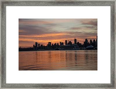 New York City - Colorful Sunrise Framed Print by Bill Cannon