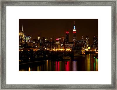 Framed Print featuring the photograph New York City by Dave Files
