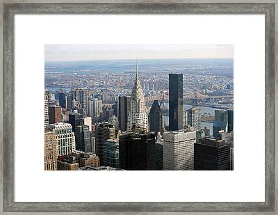 Framed Print featuring the photograph New York City East by Robert  Moss