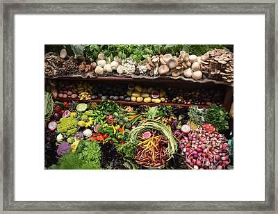 New York City Farmers Market Framed Print by Michael Dagostino