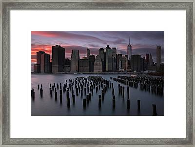 New York City Fidi Framed Print by Juergen Roth
