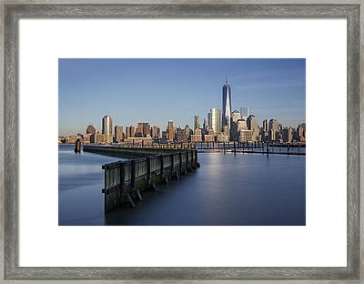 New York City Financial District Framed Print by Susan Candelario