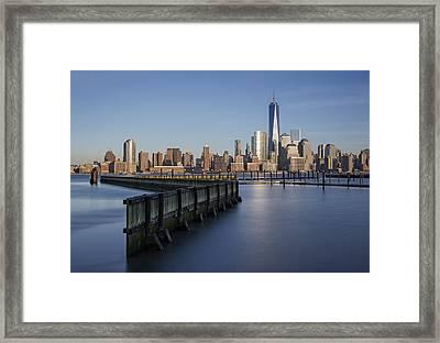 New York City Financial District Framed Print