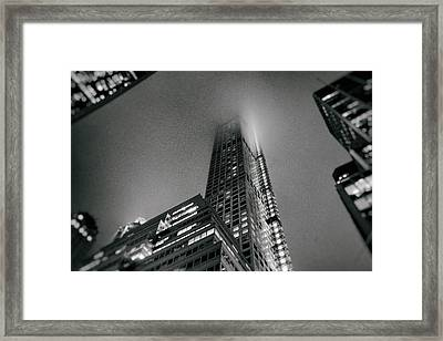 New York City - Fog Framed Print