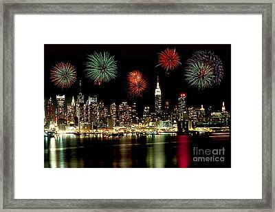 New York City Fourth Of July Framed Print