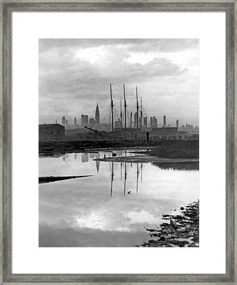 New York City From Long Island Framed Print