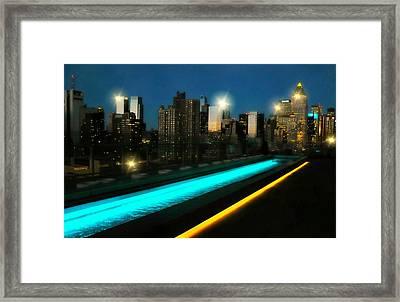 New York City Girl Framed Print by Diana Angstadt