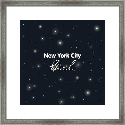 New York City Girl Framed Print by Pati Photography