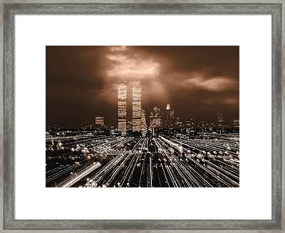 New York City Gold Framed Print