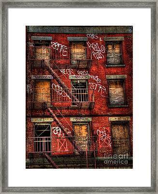 New York City Graffiti Building Framed Print