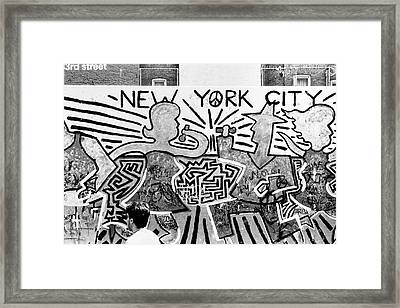 Framed Print featuring the photograph New York City Graffiti by Dave Beckerman