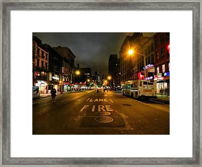 New York City - Greenwich Village 017 Framed Print