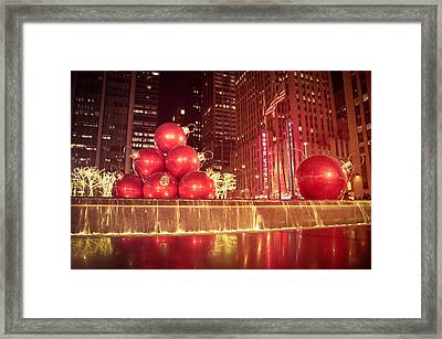 New York City Holiday Decorations Framed Print