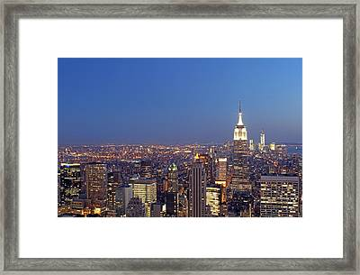 New York City Framed Print by Juergen Roth