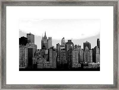 New York City Framed Print by Kathleen Struckle