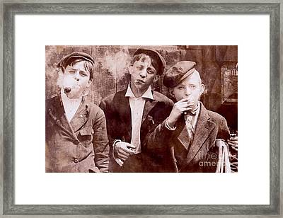 New York City Kids Framed Print by Jon Neidert