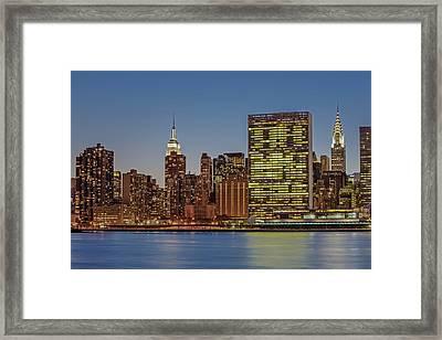 New York City Landmarks Framed Print by Susan Candelario