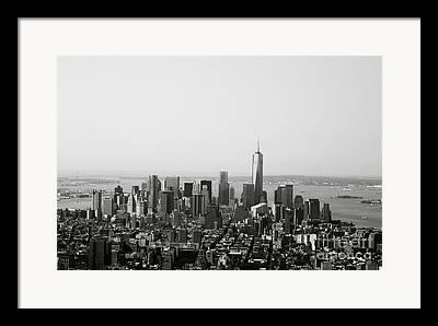Manhattan Mixed Media Framed Prints