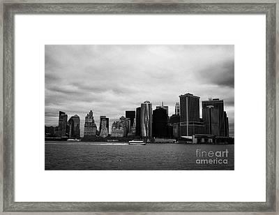 New York City Manhatten Winter Shoreline Framed Print by Joe Fox