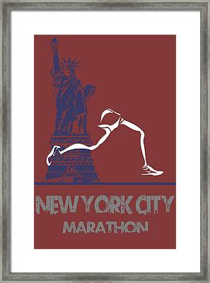 New York City Marathon Framed Print