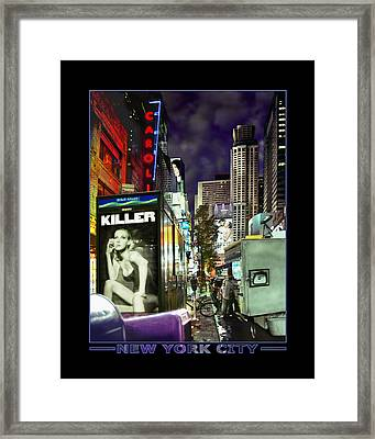 New York City Framed Print by Mike McGlothlen