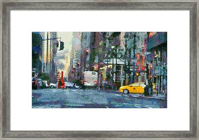 New York City Morning In The Street Framed Print by Dan Sproul