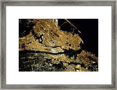 New York City Framed Print by Nasa